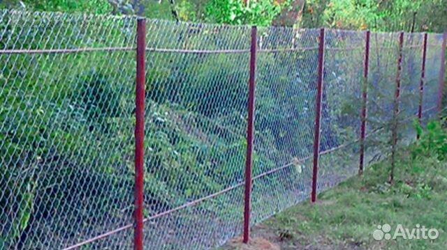 Своими руками забор из сетки рабицы