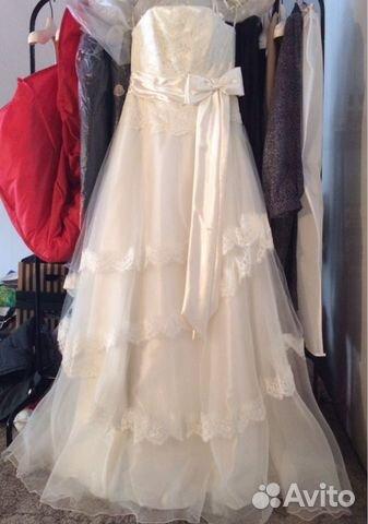 Объявление о продаже Свадебное платье в Краснодарском крае на Avito.  Цвет - айвари.  Испания.  Надевалось один раз.