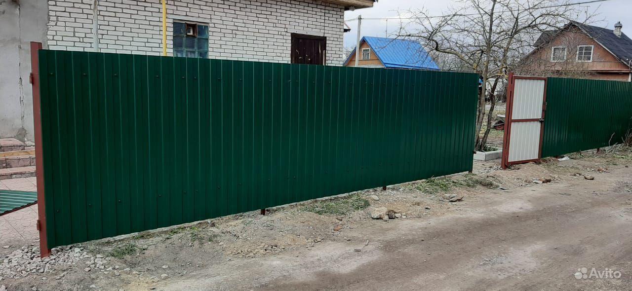 Монтаж и установка заборов купить на Вуёк.ру - фотография № 6