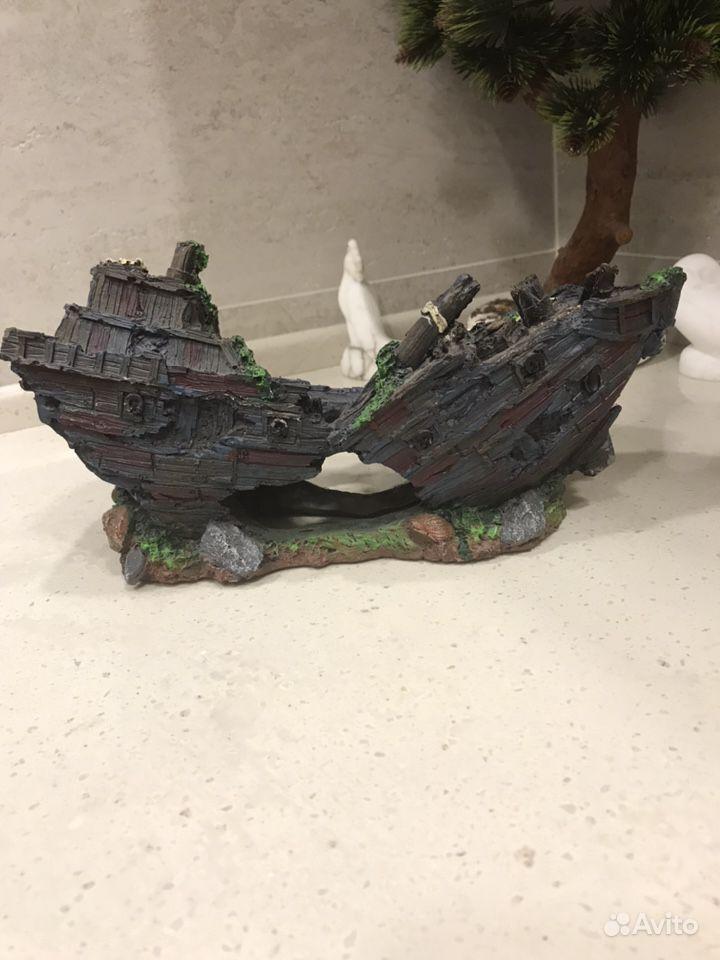 Декор в аквариум затонувший корабль купить на Зозу.ру - фотография № 1