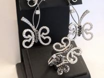Korloff комплект кольцо и серьги с бриллиантами