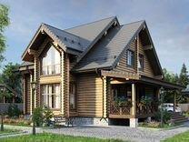 Дом из оцилиндроыанного бревна