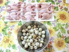 Перепелиные яйца и мясо