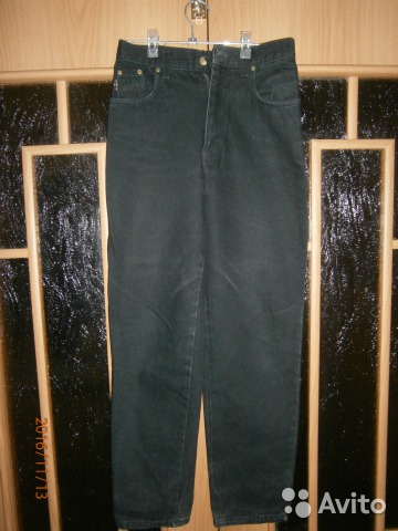 Почти новые утепленные джинсы черного цвета 89193233610 купить 1