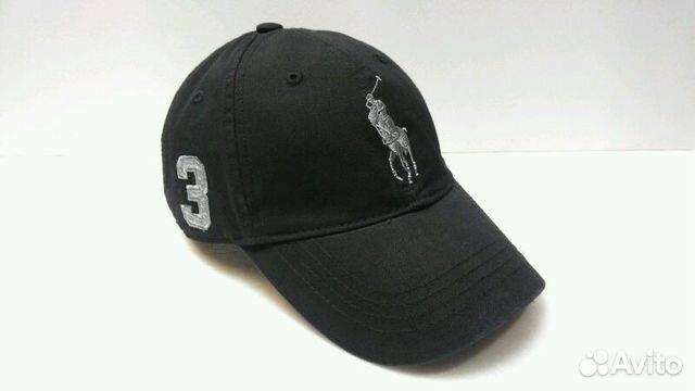 042d9c91687e Кепка бейсболка Polo Ralph Lauren 3 (three black) купить в Москве на ...