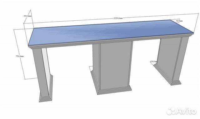 Двойной маникюрный стол 48 Антик 88612907202 купить 1