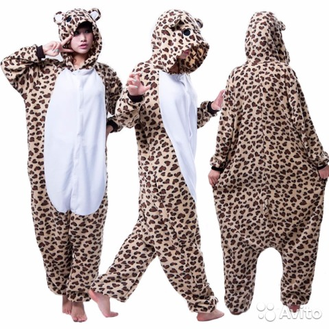 Пижама S (кигуруми) Леопард новая  7d4ece8e1a25d