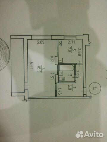 1-к квартира, 36 м², 1/9 эт. 89058740901 купить 1