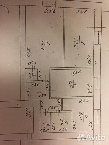 3-room apartment, 53.9 m2, 2/2 floor.
