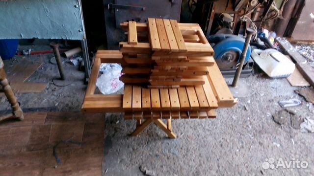 Набор раскладних стулев и стола
