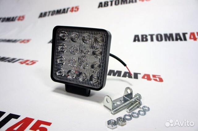Светодиодная фара тонкая 48вт дальний свет 1шт 89091779933 купить 2