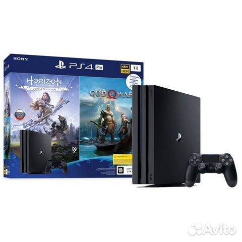 Новая Sony playstation 4 Pro+HZD/GOW запечатанная 89874729154 купить 2