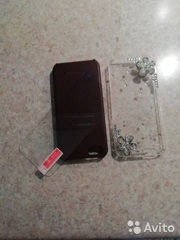 2 чехла и стекло для айфон 5s 89324387582 купить 1