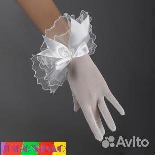 Детские перчатки к платью купить в спб