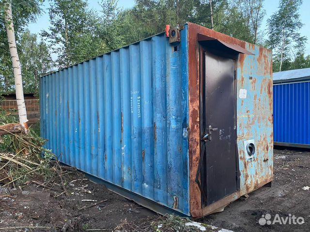 Вагончик-баня на базе контейнера 20 Футов купить 1