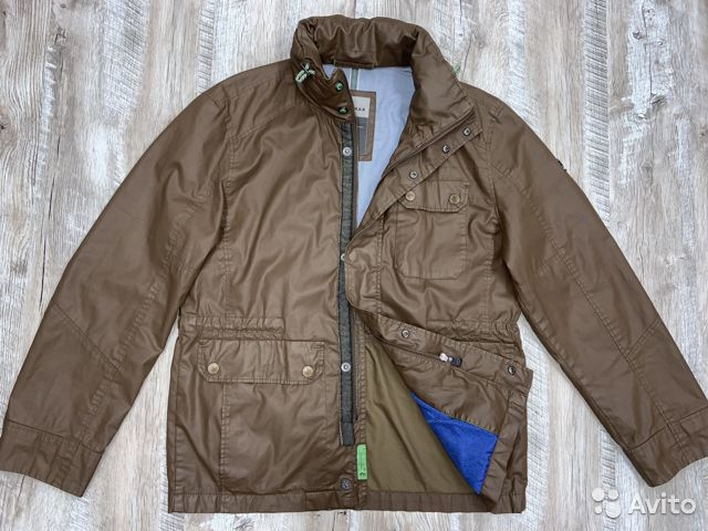 Мужская коричневая прорезиненная куртка Calamar  89218780739 купить 1