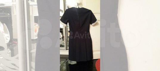 Школьное платье на последний звонок синее, фартук купить в Москве на Avito  — Объявления на сайте Авито 0efff02cda1