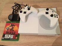 Xbox One S 500GB (+джойстик, rdr2, аккумуляторы)