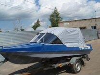 Ходовой тент для моторной лодки обь-М новый
