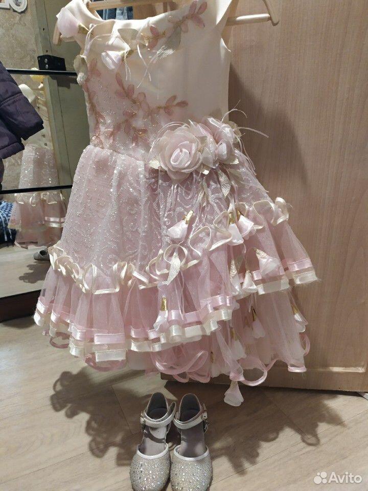 Красивейшее нарядное платье для принцессы+туфли  89854569556 купить 4