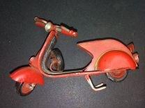 Игрушка мотороллер старинная 50-ых годов СССР