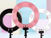 Кольцевая лампа розовая