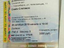 Билет на Слепакова