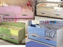 Детская Кровать Дельфин два ящика