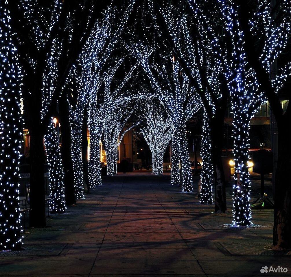 Гирлянды на дерево новогоднее оформление  89613169763 купить 2