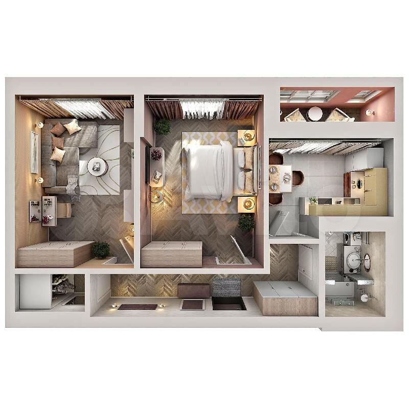 2-к квартира, 57.3 м², 4/12 эт.  89274613653 купить 2
