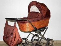 Шикарная коляска Шоколад в плетёной корзине 2 в 1