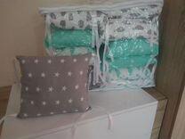 Бортики- подушки для кроватки
