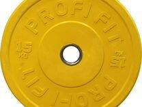 Диск для штанги каучуковый, profi-FIT